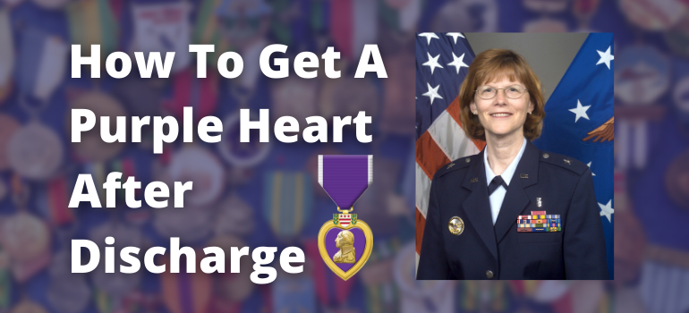 How to get a purple heart after discharge