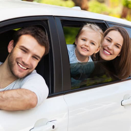 Family On Road after Towing