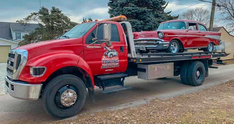 Tow Truck with Classic Car